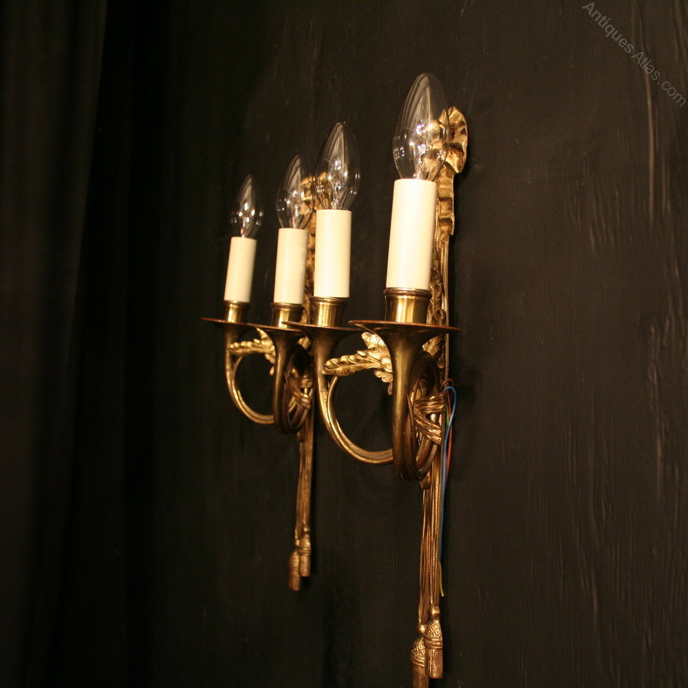 Antiques Atlas - A French Pair Of Twin Arm Antique Wall Lights