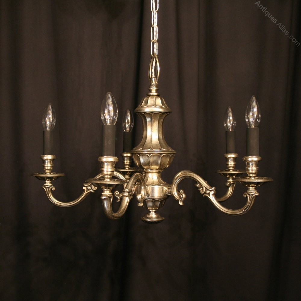 Antiques Atlas A French Silver Plated 5 Light Chandelier