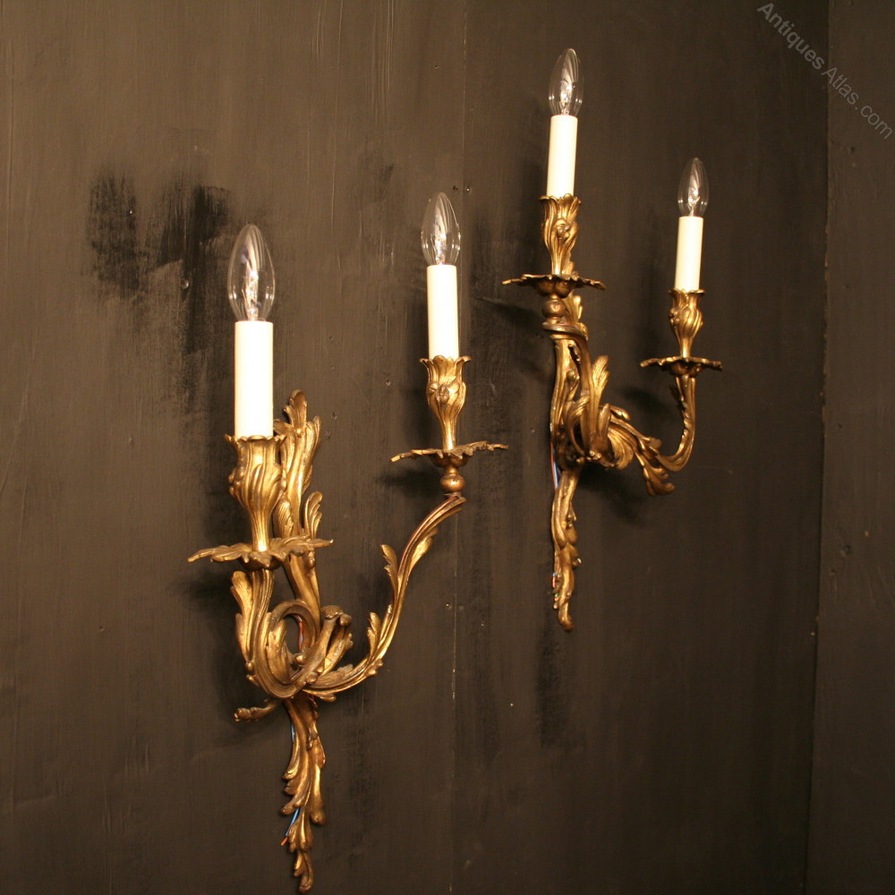 Antiques Atlas - A Large French Pair Of Antique Wall Sconces