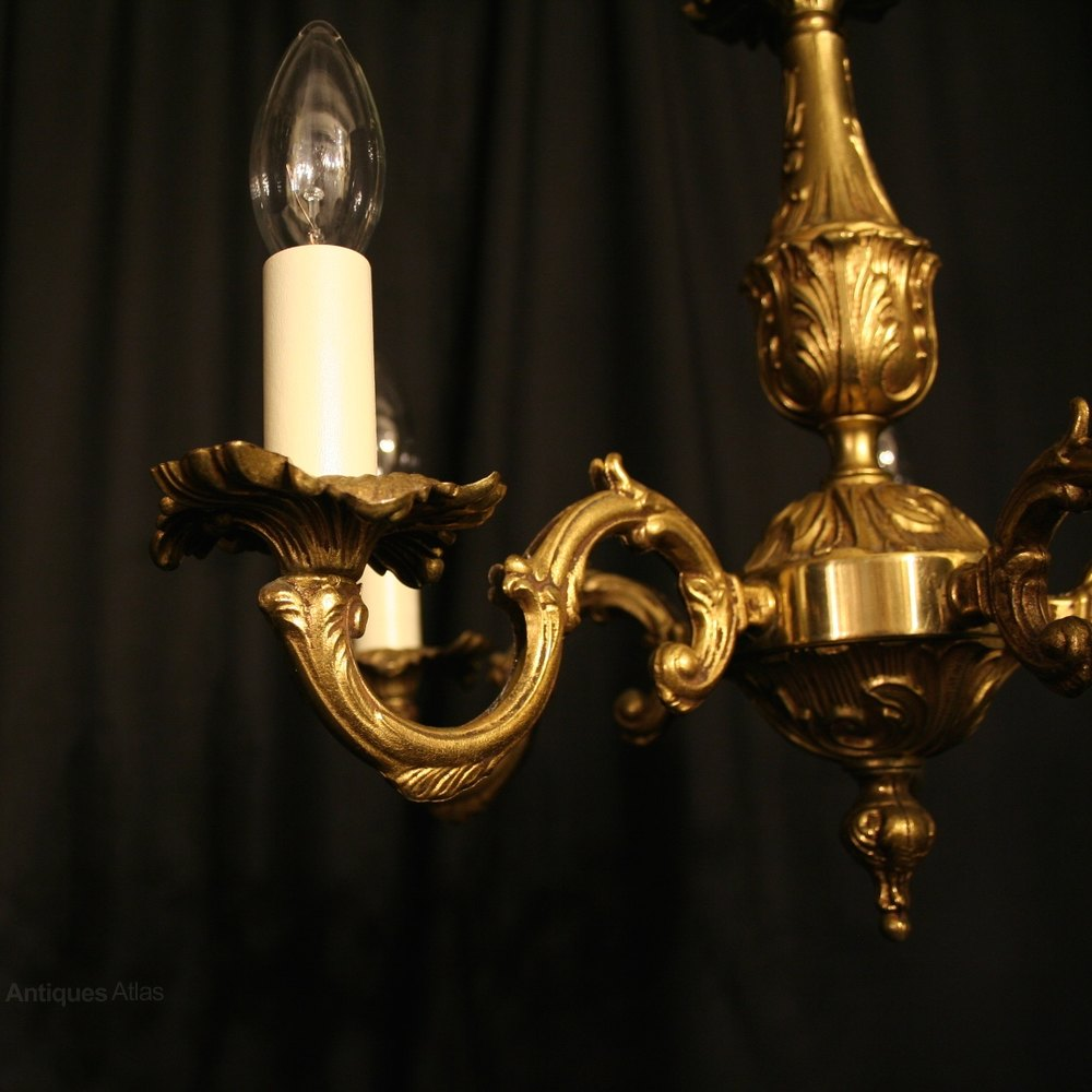 Antiques Atlas A Small French Gilded Cast 5 Light Chandelier