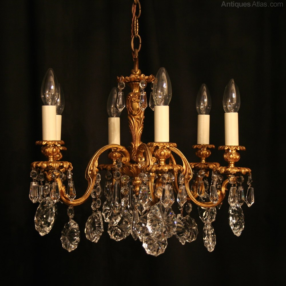 Antiques atlas an italian 6 light bronze antique chandelier an italian 6 light bronze antique chandelier arubaitofo Images