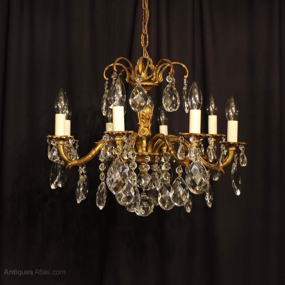 Antiques Atlas An Italian 8 Light Gilded Antique Chandelier