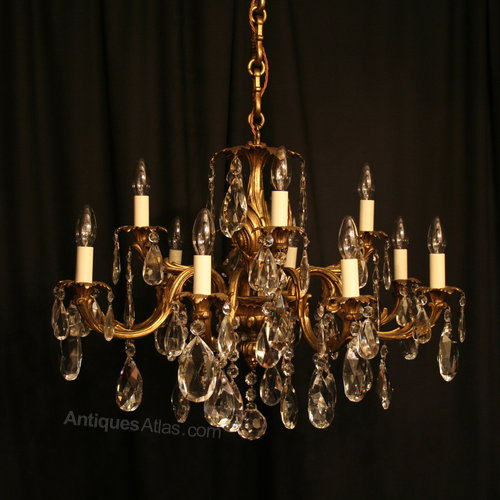 Antiques Atlas An Italian Gilded 12 Light Antique Chandelier