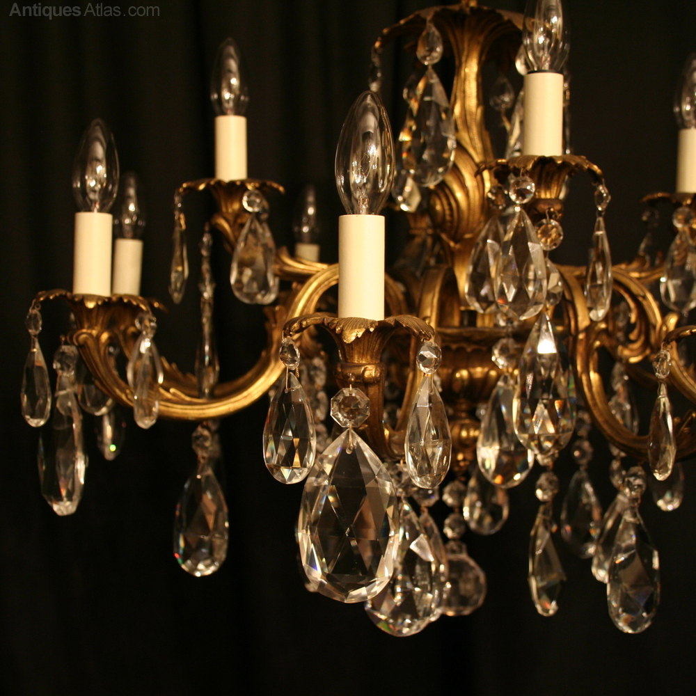 ... Antique Lighting, Antique Italian Chandeliers ... - Antiques Atlas - An Italian Gilded 12 Light Antique Chandelier