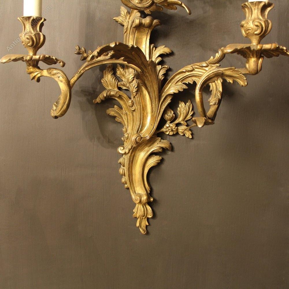 Antiques Atlas - An Italian Pair Of Bronze Antique Wall Sconces
