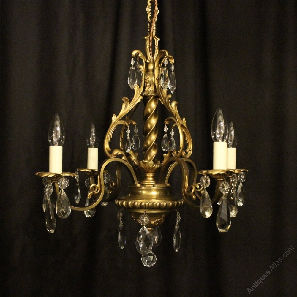 Antiques Atlas French Bronze 4 Light Antique Chandelier