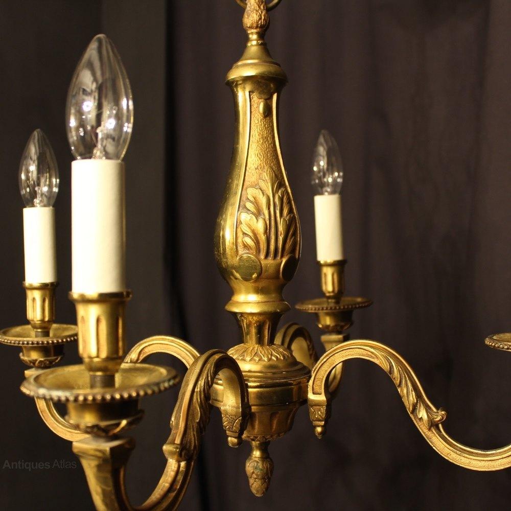 Antiques Atlas French Bronze 4 Light Antique Chandelier