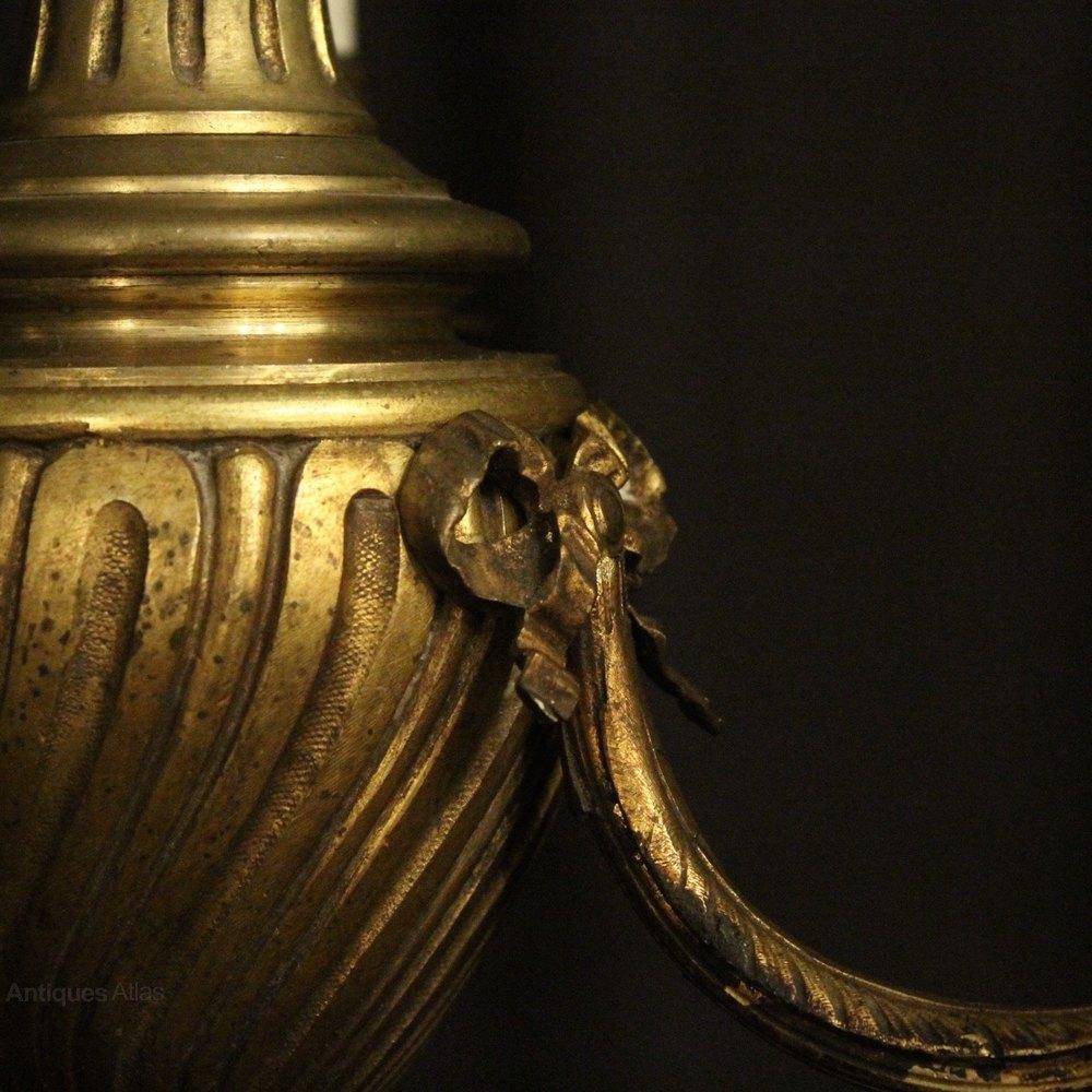 Antiques Atlas French Bronze Triple Light Antique Chandelier