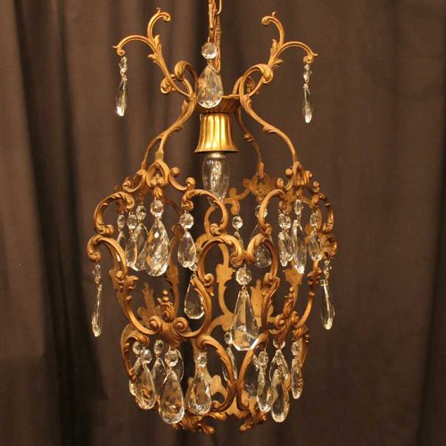 antiques atlas french gilded single light birdcage. Black Bedroom Furniture Sets. Home Design Ideas