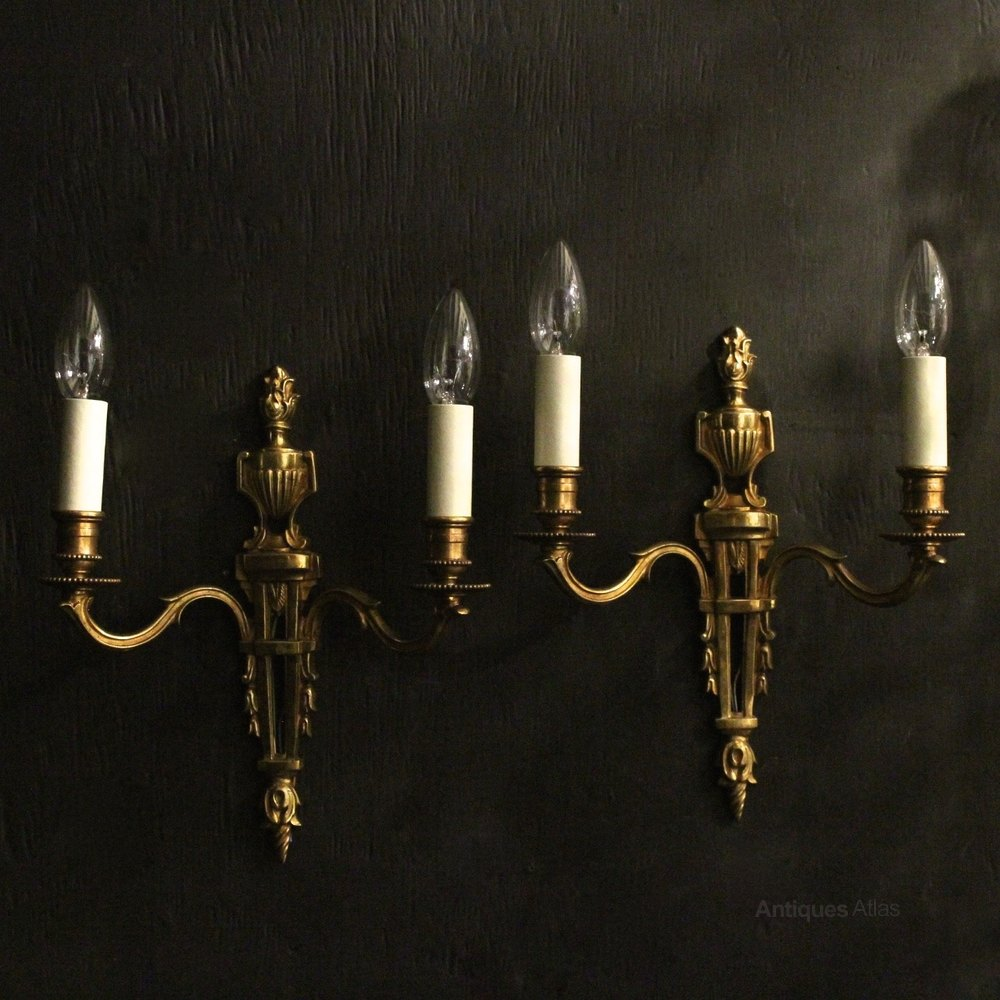 Vintage Reclaimed Wall Lights : Antiques Atlas - French Pair Of Gilded Antique Wall Lights