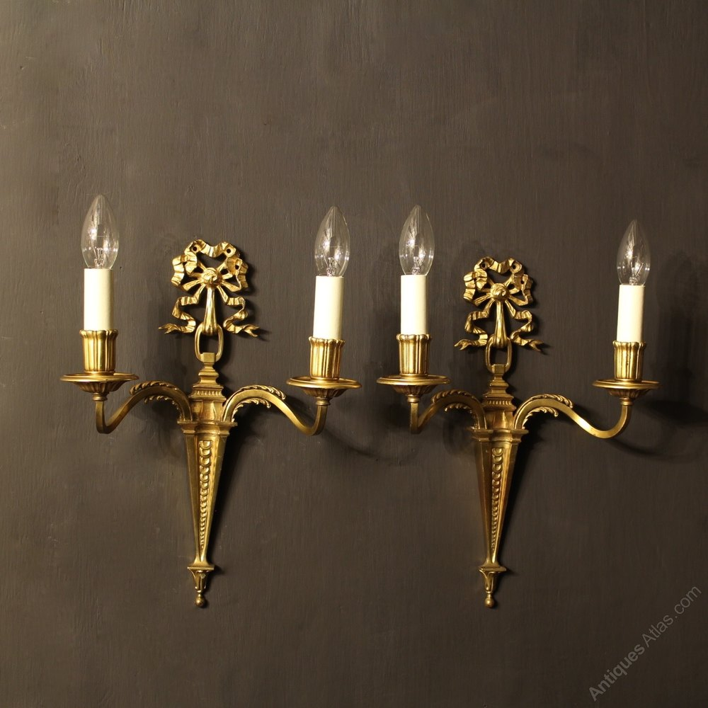 Antiques Atlas - French Pair Of Gilded Antique Wall Lights