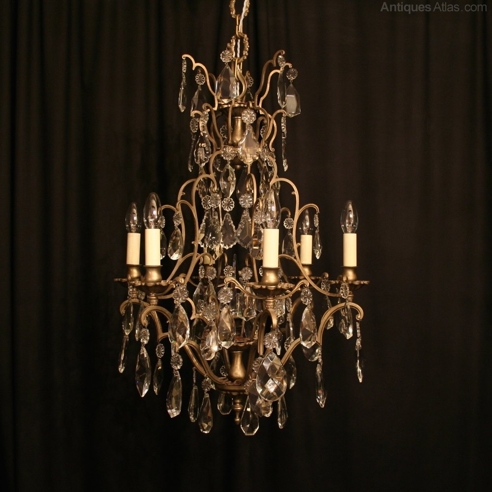 Antiques Atlas French Silver Birdcage Antique Chandelier