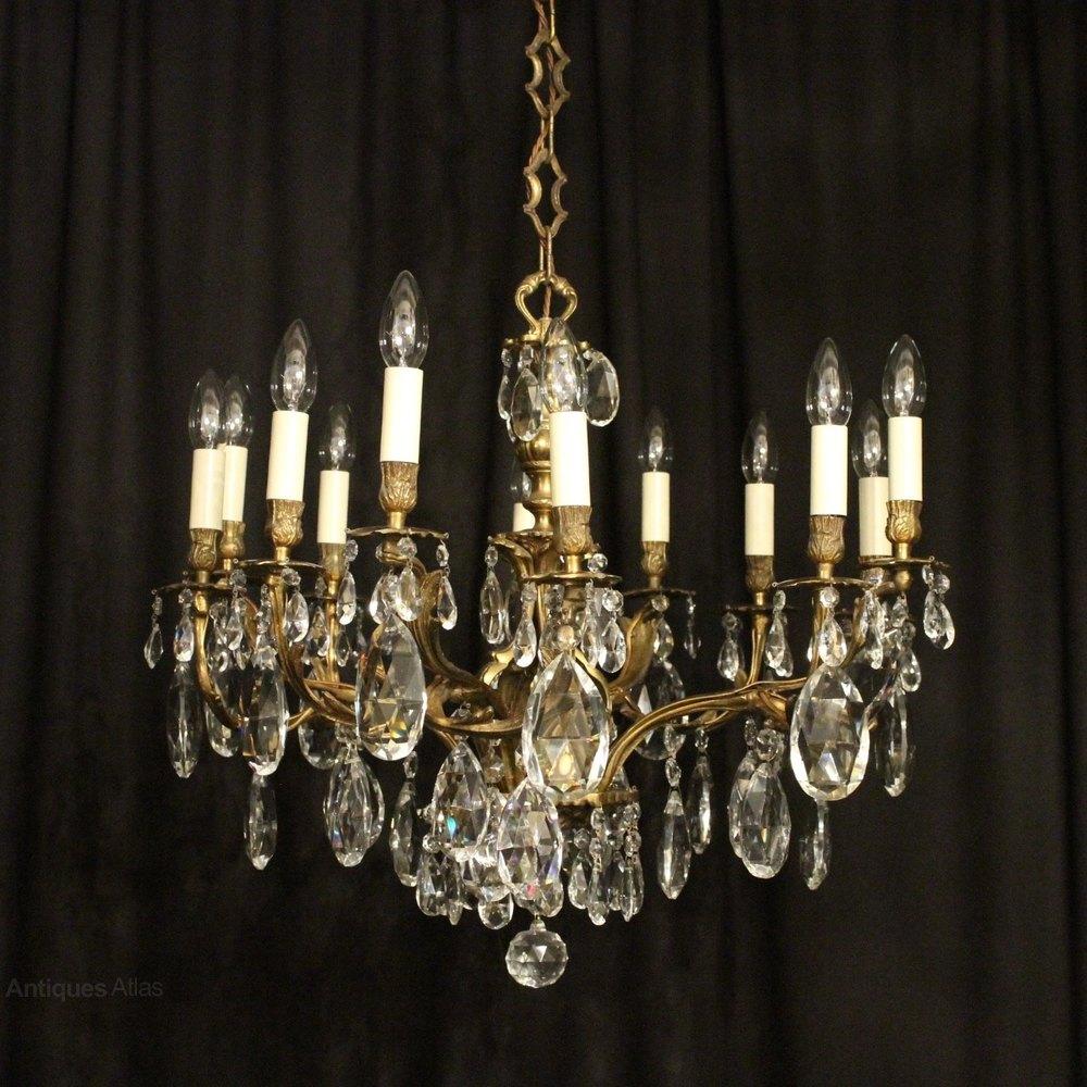 Fresh Italian Gilded Light Antique Chandelier
