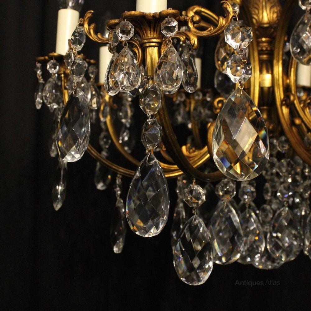 Antiques Atlas Italian Gilt Amp Crystal 8 Light Antique