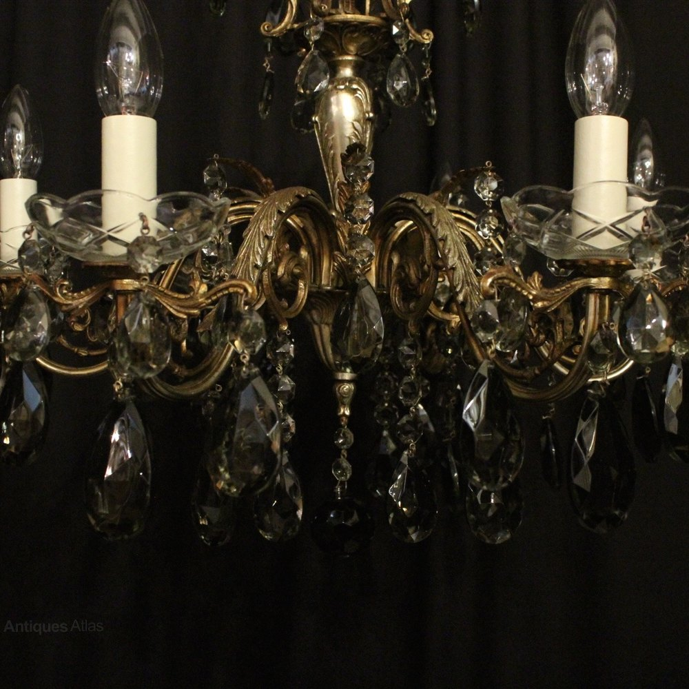 Antiques Atlas Italian Silver Gilded 6 Light Chandelier