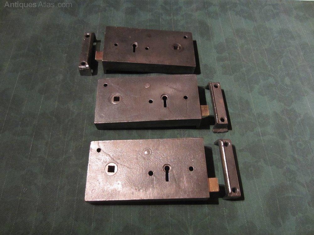 Antiques atlas cast iron rim lock 3 available for 1930 door locks
