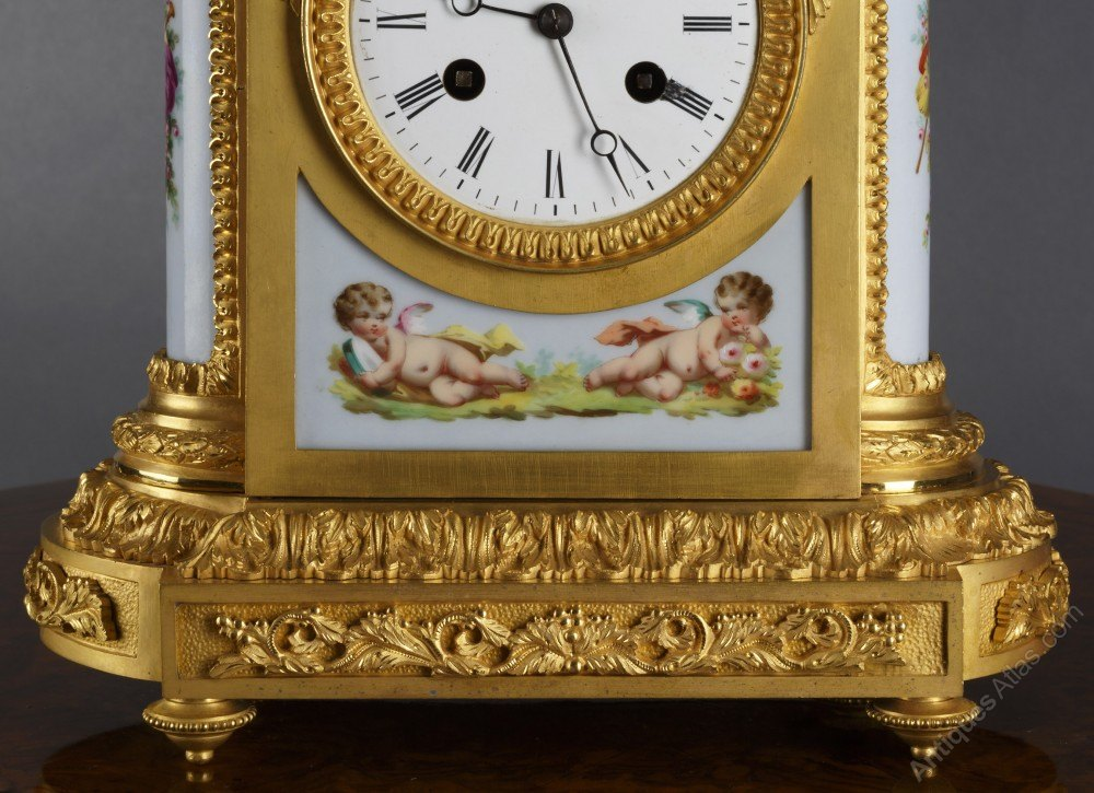 Antiques Atlas - French Ormolu And Porcelain Mantel Clock