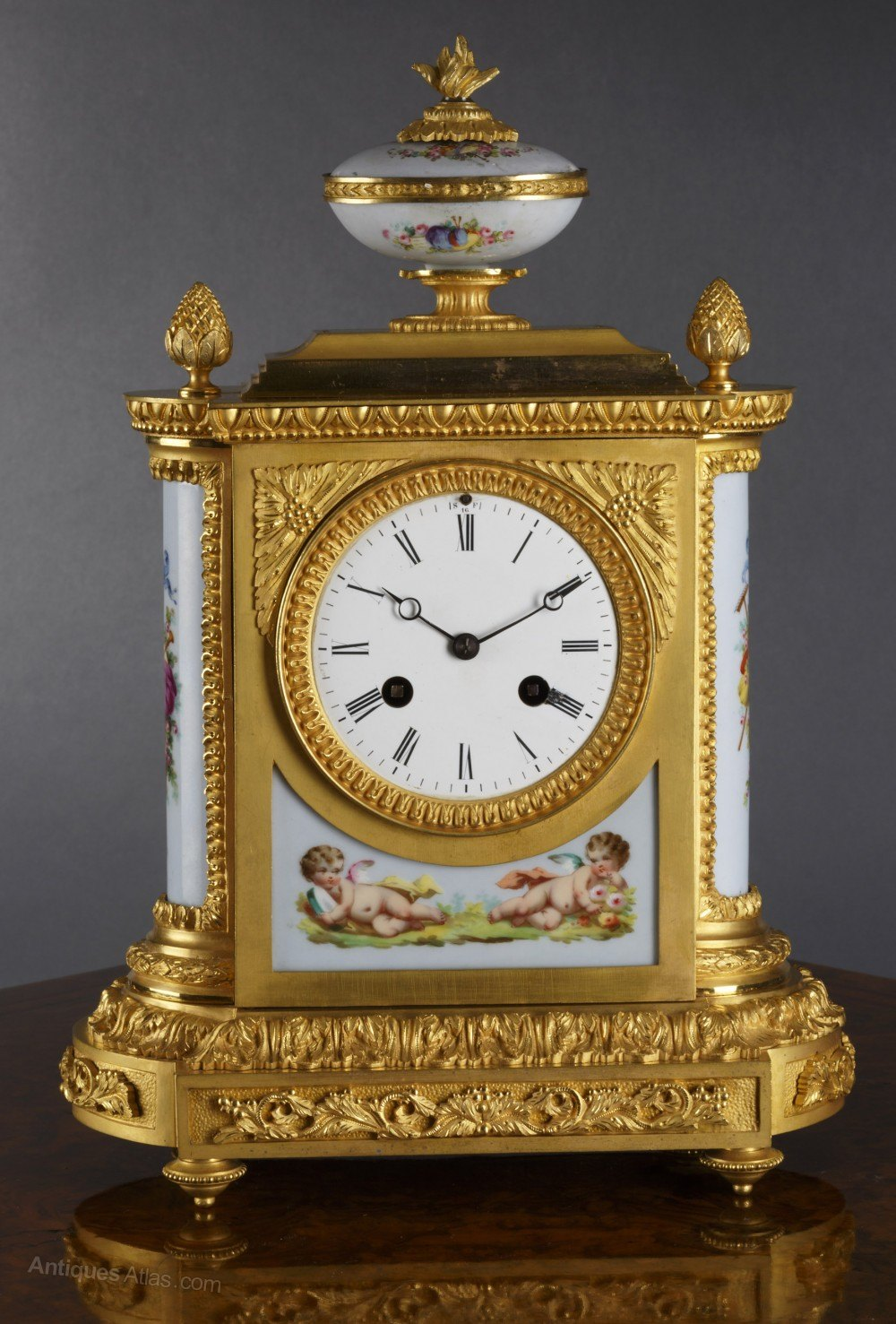 Antiques Atlas French Ormolu And Porcelain Mantel Clock
