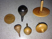 Antique mini spinning tops