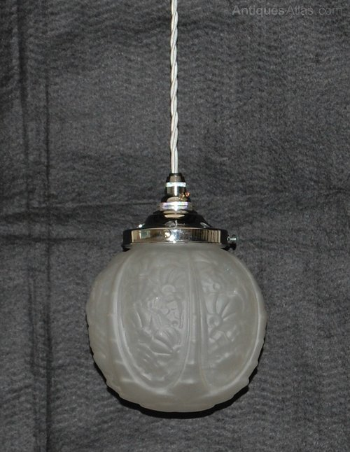 antiques atlas frosted glass light pendant