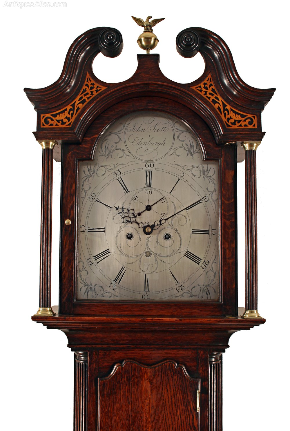 Antiques Atlas - Oak Longcase Clock By Scott Of Edinburgh