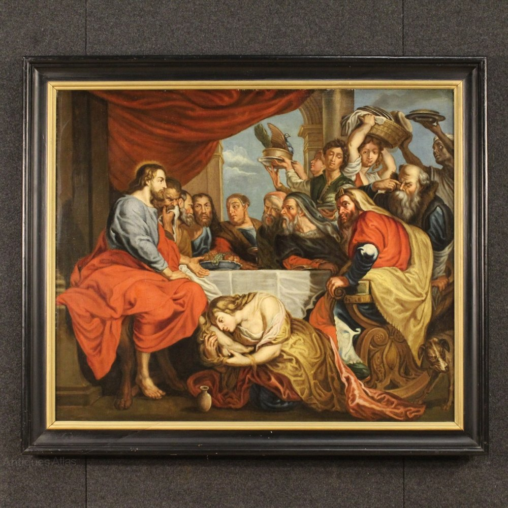 Antiques atlas 18th century flemish religious painting for Christian mural paintings