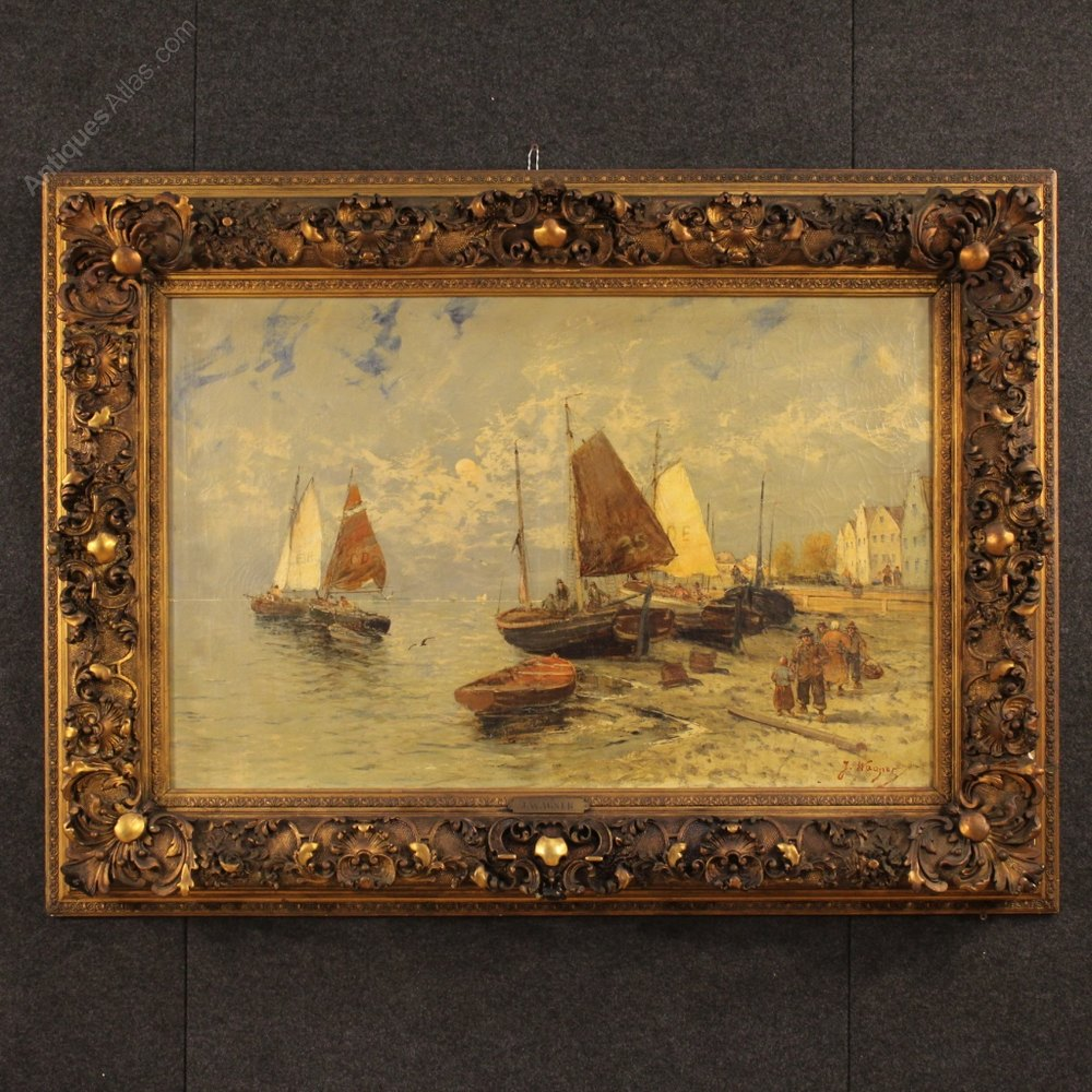 Antiques Atlas - 19th Century Dutch Seascape Painting
