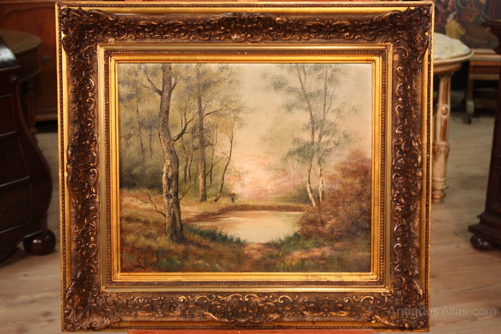 Antiques Atlas 19th Century French Oil Landscape Painting