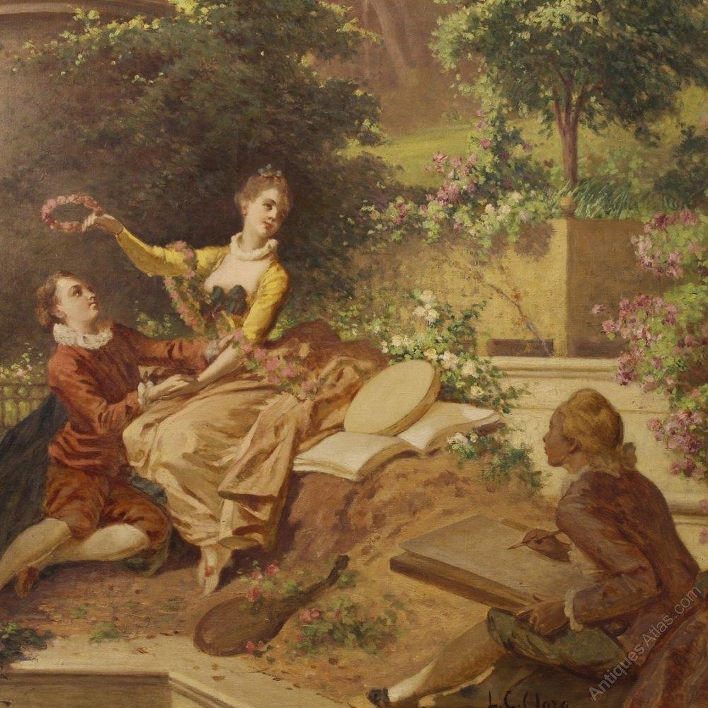 Antiques Atlas 19th Century Italian Romantic Painting