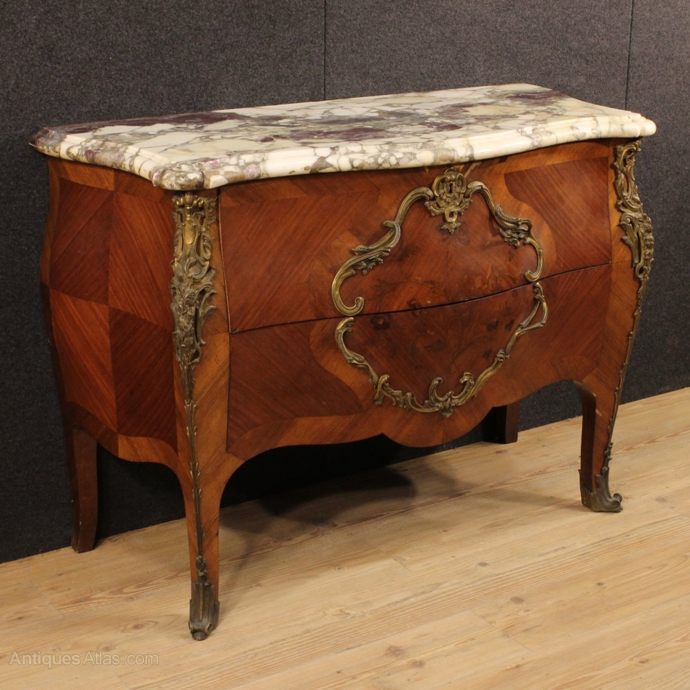 20th century french dresser with marble top antiques atlas for Commode style shabby