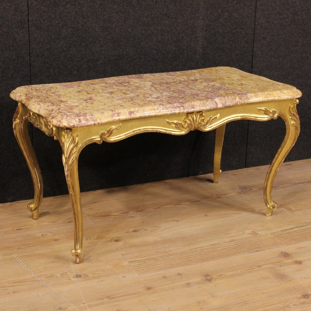 Antiques Atlas 20th Century French Gilt Coffee Table