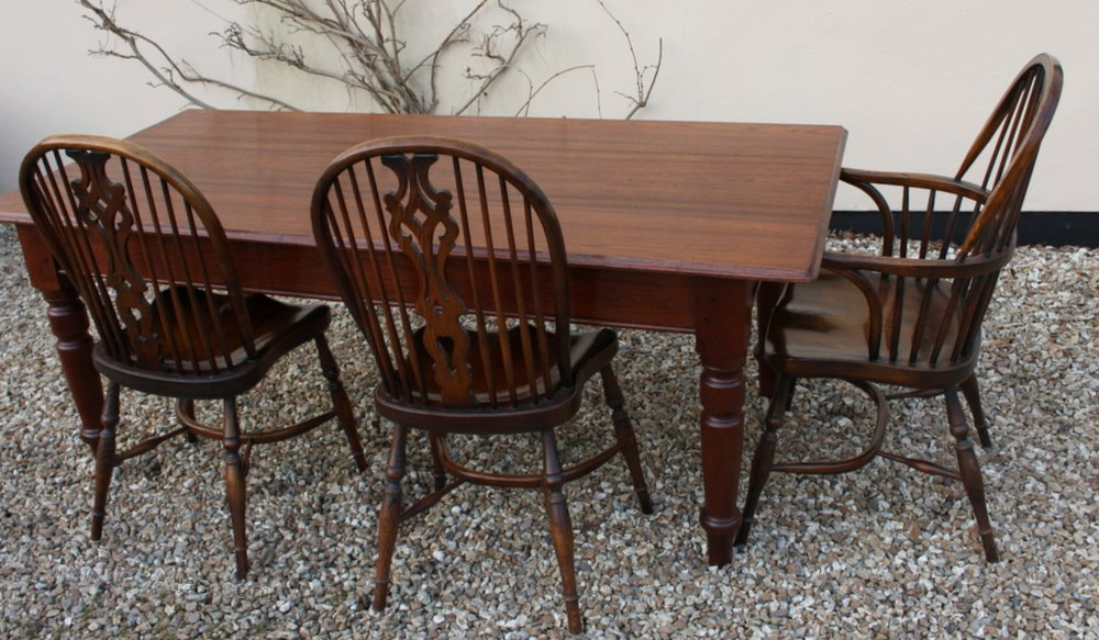 Teak dining kitchen table antiques atlas for Durable kitchen table