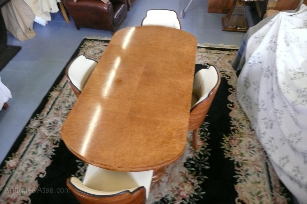 Art Deco Epstein Dining Table And Chairs C 1930 - Antiques Atlas