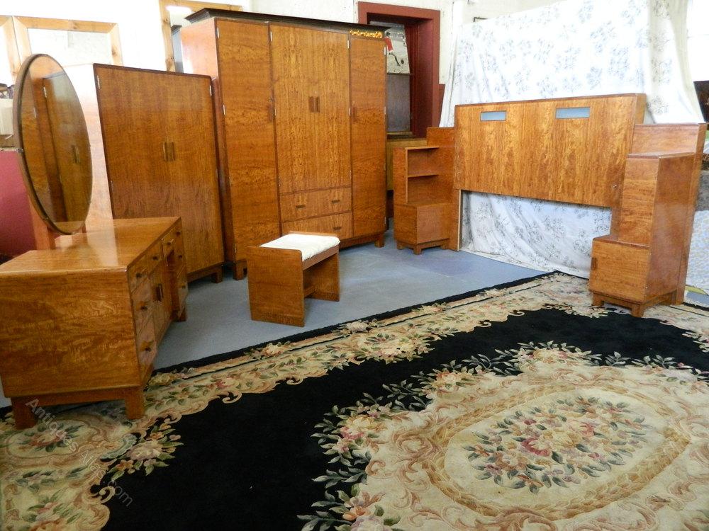 heals art deco satinwood bedroom suite antiques atlas