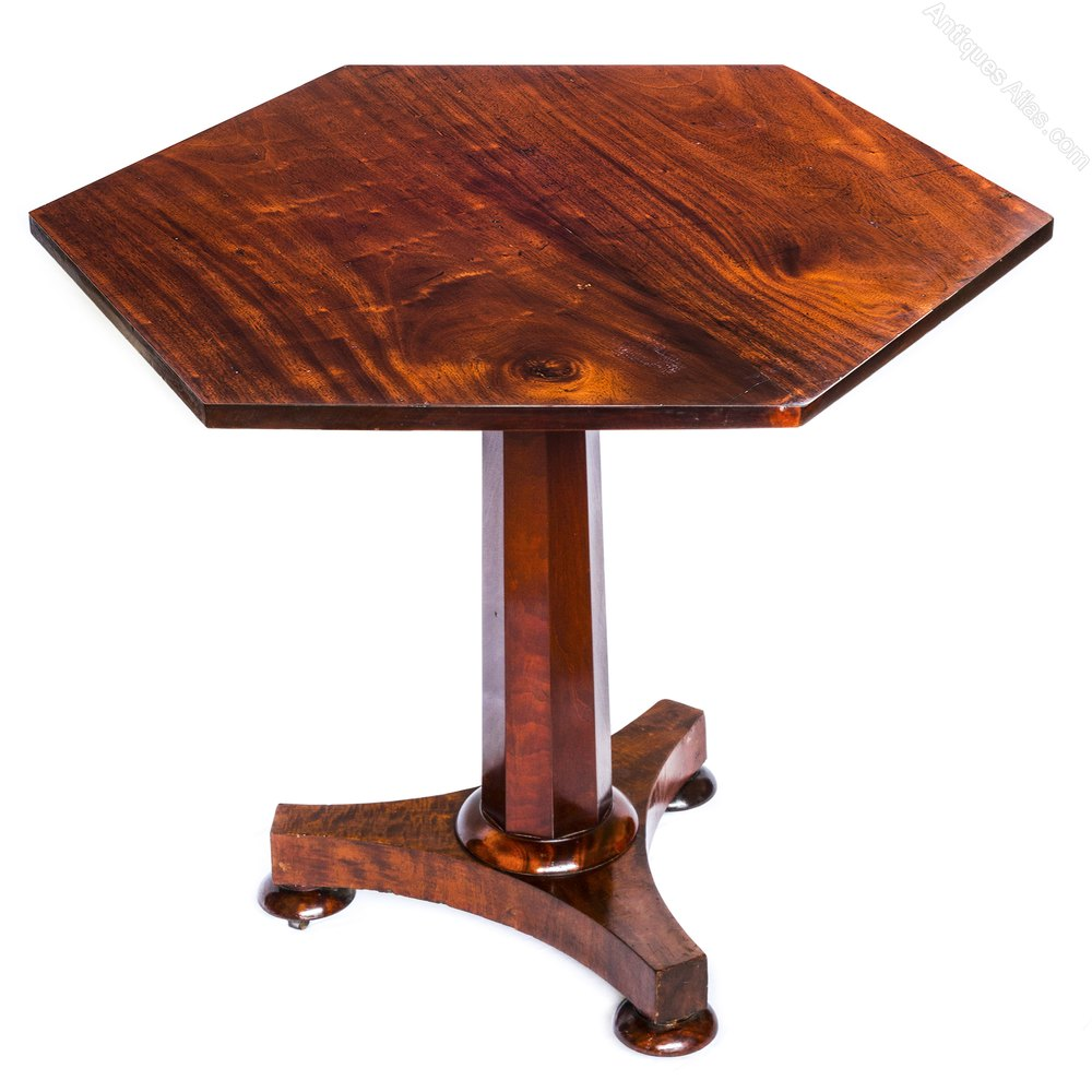 Regency william iv hexagonal mahogany centre table for England table