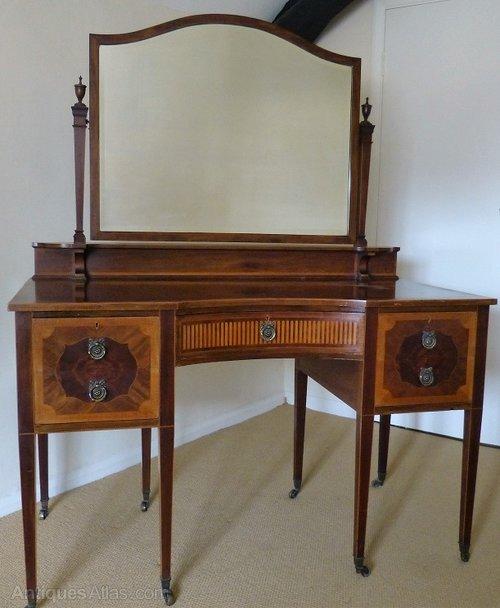Inlaid mahogany dressing table antiques atlas