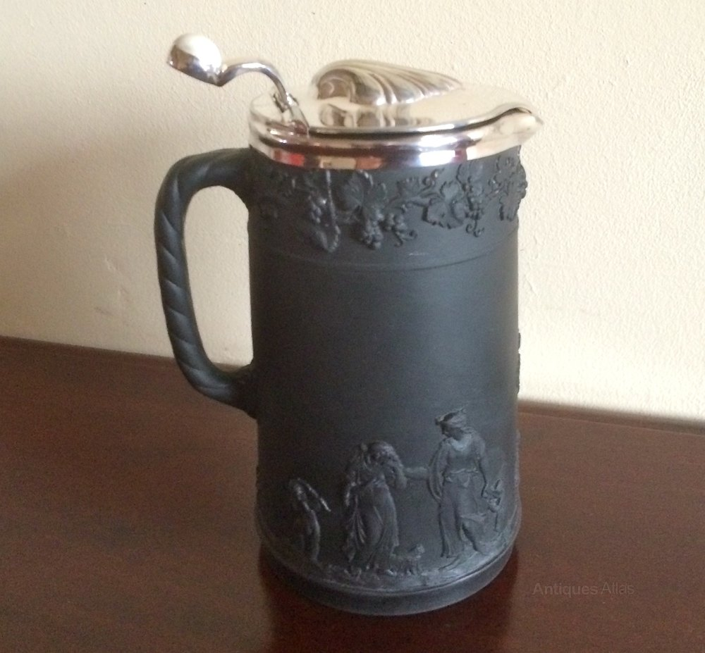 Antiques Atlas Victorian Wedgwood Black Basalt Jug 1887