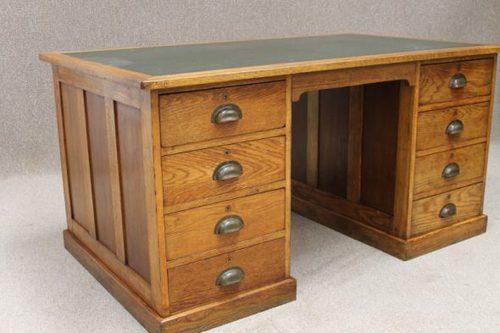 1920s Oak Office Desk Antiques Atlas