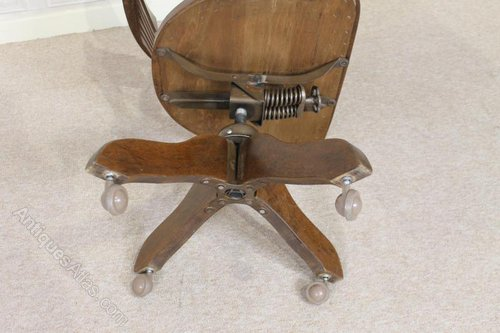 Peachy Antique Swivel Chair Parts 1930S Oak Tilt And Swivel Office Cjindustries Chair Design For Home Cjindustriesco