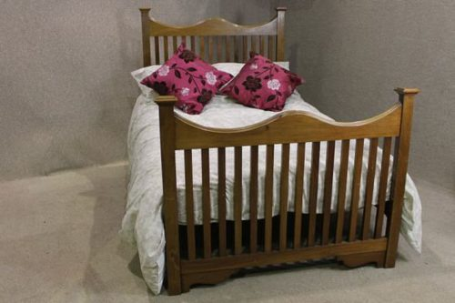 Arts and crafts double bed in walnut antiques atlas for Arts and crafts beds