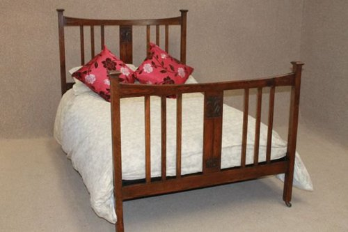 Carved Oak Arts And Crafts Double Bed Antiques Atlas