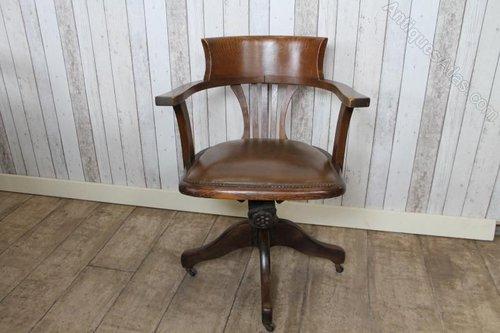 edwardian swivel office chair in oak antique antique swivel office chair