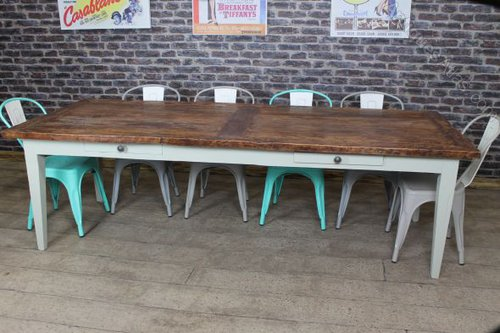 Antiques atlas large farmhouse table rustic for 10 seater farmhouse table