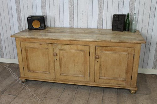 Large Victorian Pine Kitchen Sideboard Dresser