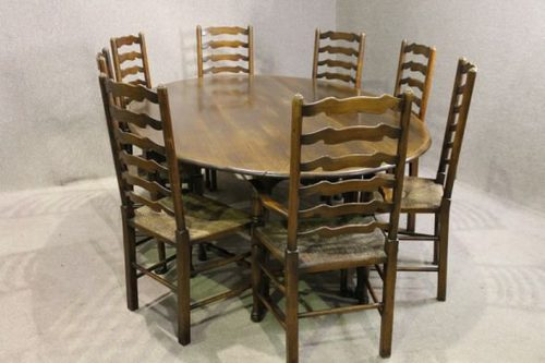 antique oak oval dining table. large oval oak dining table and chairs antique t