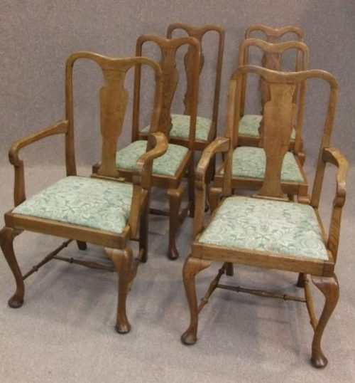 Queen Anne Dining Chairs Antiques Atlas