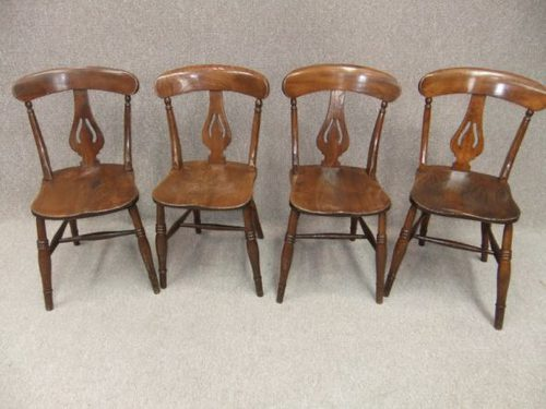 set of 4 victorian kitchen chairs antiques atlas