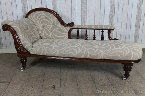 Victorian mahogany chaise longue antiques atlas for Antique victorian chaise