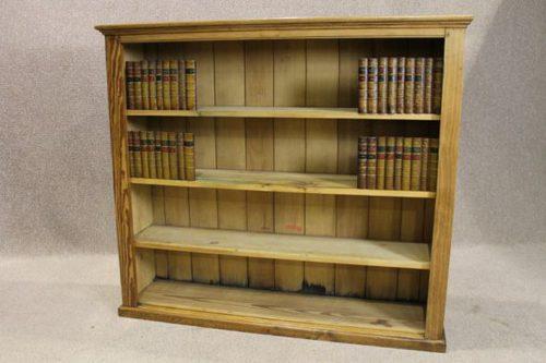 Victorian Pine Open Bookcase Antique Bookcases