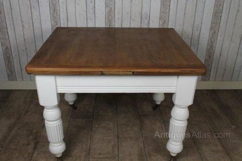 victorian extendable pine kitchen table - antiques atlas
